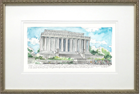 The Lincoln Memorial frame