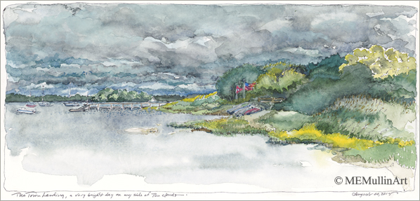 Stormy Skies Over North Bay print by MEMullinArt