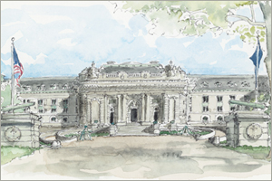 Bancroft Hall, the United States Naval Academy at Annpolis print by MEMullin