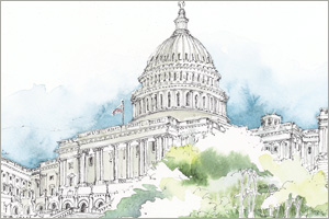 The Capitol Building print by MEMullin