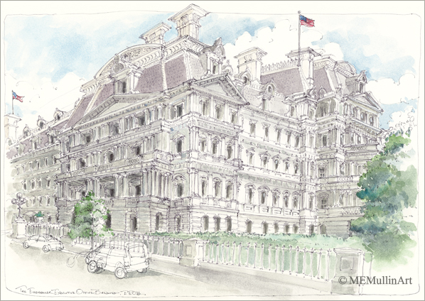 Oldl Executive Office Building l print by MEMullin