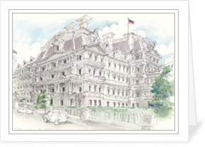 Old Executive Office Building notecard by MEMullin