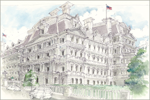Old Executive Office Building print  by MEMullin