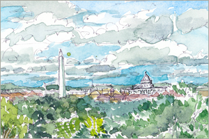 The View from Arlington National Cemetery print by MEMullin