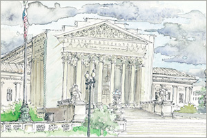 The Supreme Court print by MEMullin